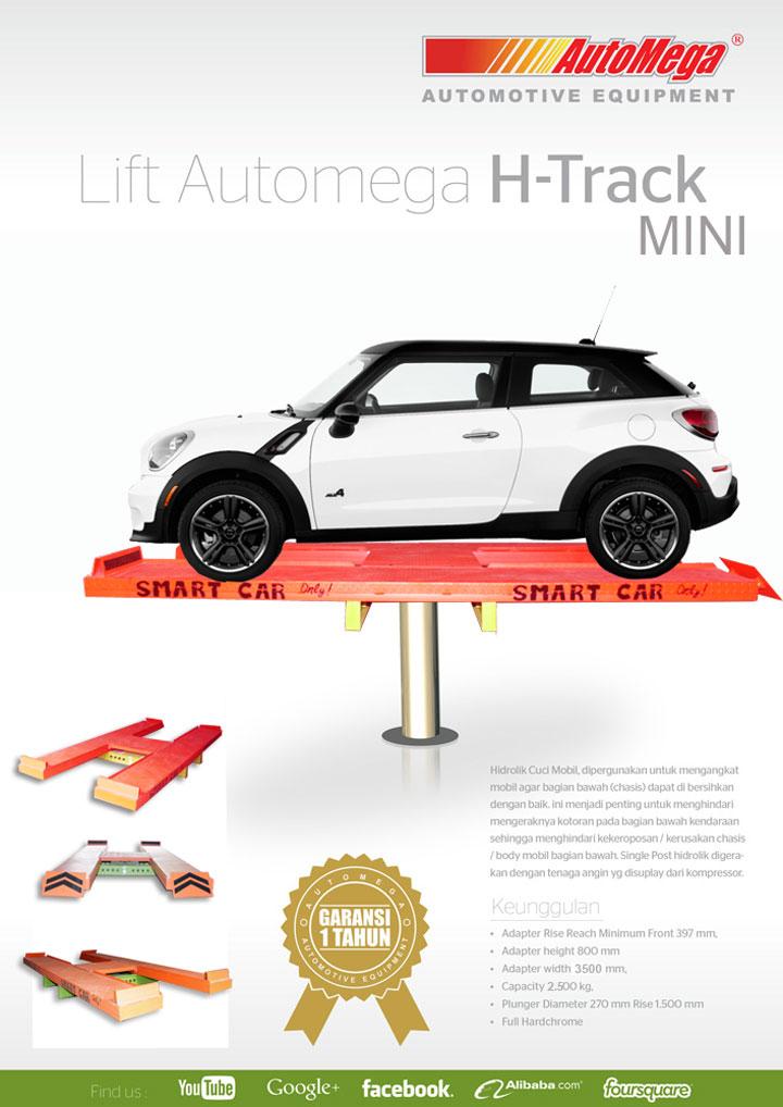 Hidrolik Lift Cuci Mobil MINI H-Track 1,2M 1