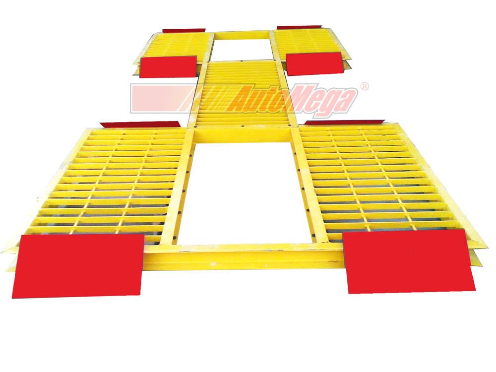 Meja Hidrolik Cuci Mobil H-Track (meja rata lantai)