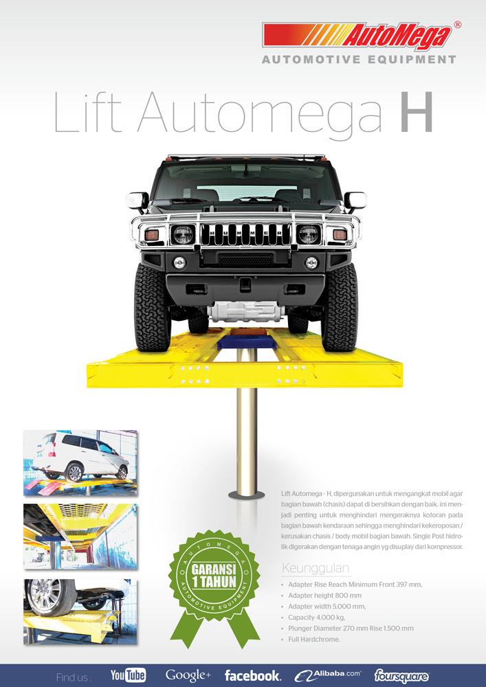 Hidrolik Lift cuci mobil H Spandex (meja atas lantai) 2
