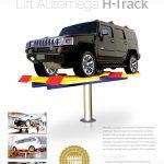 Hidrolik Cuci Mobil H-Track (meja rata lantai)