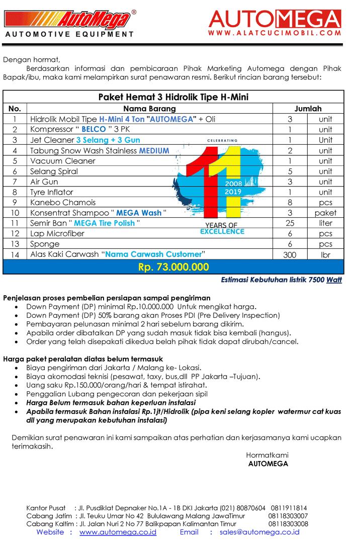 Paket-Hemat-3-Hidrolik-Lift-Cuci-Mobil-tipe-H-Mini