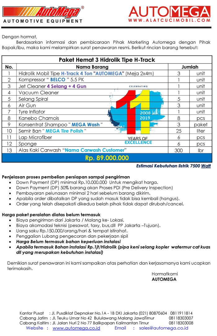 Paket-Hemat-3-Hidrolik-Lift-Cuci-Mobil-tipe-H-Track