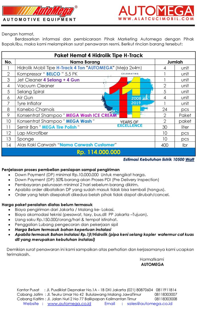 Paket-Hemat-4-Hidrolik-Lift-Cuci-Mobil-tipe-H-Track