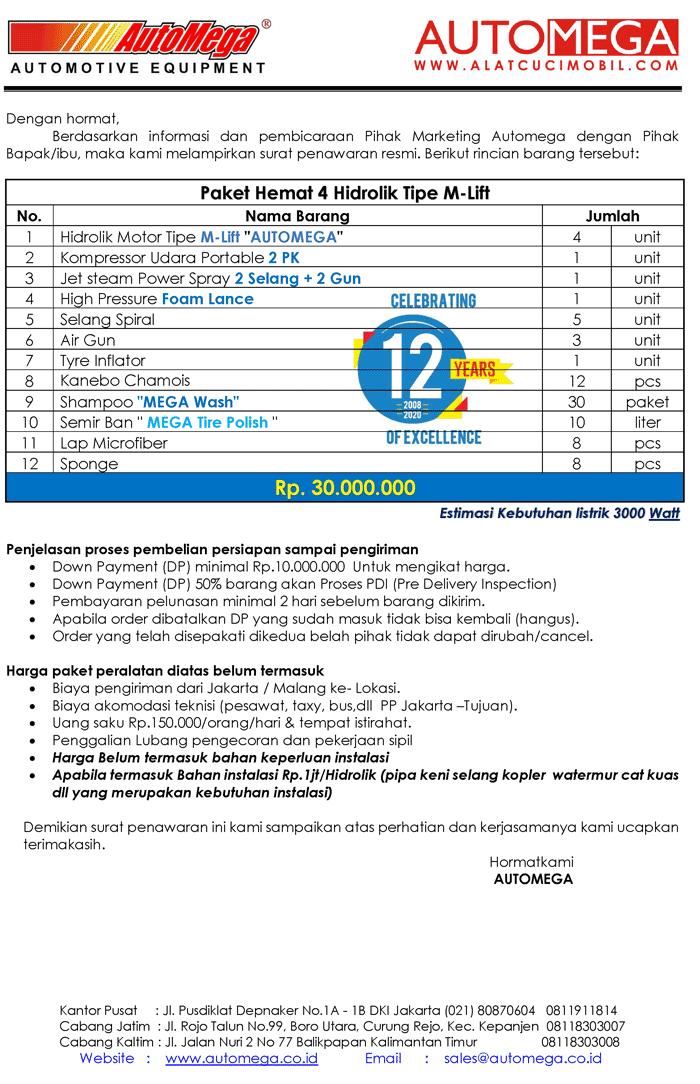 Paket-Hemat-4-Hidrolik-Lift-Cuci-Motor-M-Lift