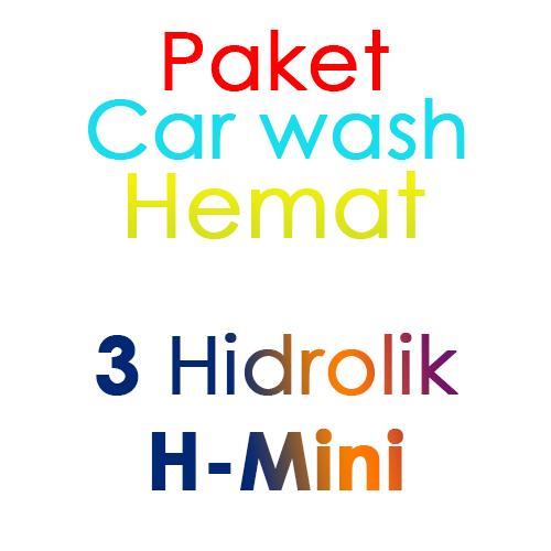 Paket Cuci Mobil Hemat 3 Hidrolik Lift tipe H-Mini