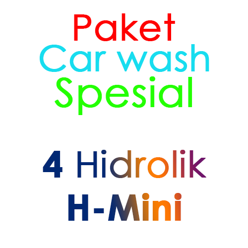 Paket Cuci Mobil Spesial 4 Hidrolik Lift tipe H-Mini