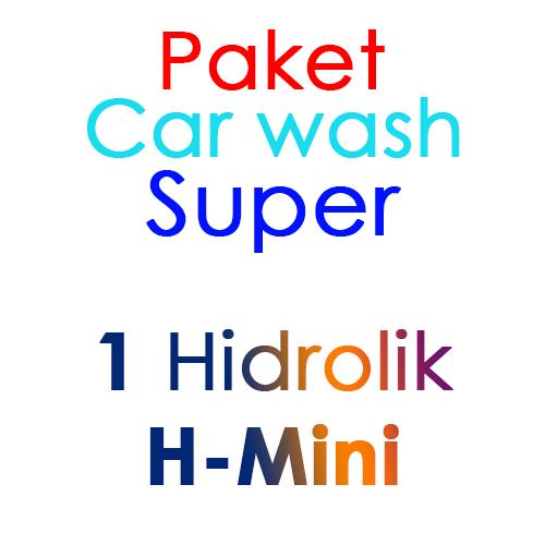 Paket Cuci Mobil Super 1 Hidrolik Lift tipe H-Mini