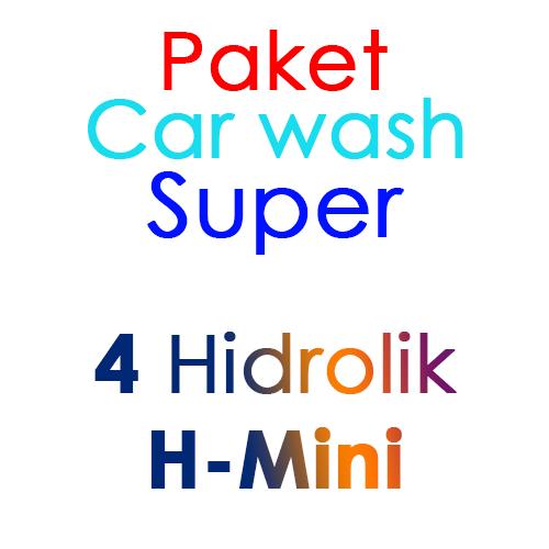 Paket Cuci Mobil Super 4 Hidrolik Lift tipe H-Mini