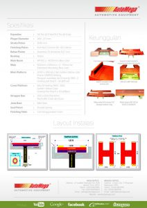 Hidrolik Lift  Cuci Mobil MINI H-Track 1,2M 2