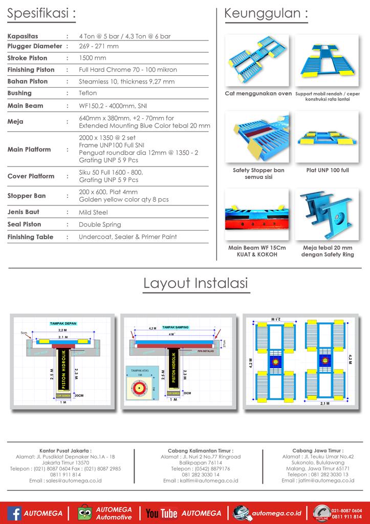 hidrolik-lift-cuci-mobil-H-Track-automega