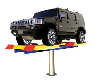 Hidrolik Cuci Mobil H Track (meja rata lantai)
