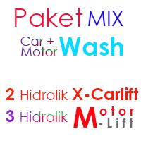 Paket MIX Cuci Mobil 2 Hidrolik X dan 3 Hidrolik Motor