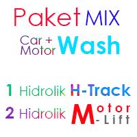 Paket MIX 1 hidrolik cuci mobil h track dan 2 hidrolik lift motor