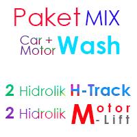 Paket MIX Cuci Mobil 2 Hidrolik H dan 2 Hidrolik Motor