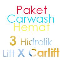 Paket Cuci Mobil Hemat 3 Hidrolik Lift tipe X