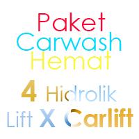 Paket Cuci Mobil Hemat 4 Hidrolik Lift tipe X