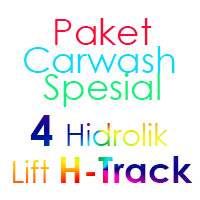 Paket Cuci Mobil Spesial 4 Hidrolik Lift H-Track