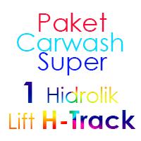 Paket Cuci Mobil Super 1 Hidrolik Lift H-Track