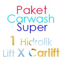 Paket Cuci Mobil Super 1 Hidrolik Lift tipe X