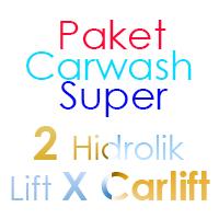 Paket Cuci Mobil Super 2 Hidrolik Lift tipe X