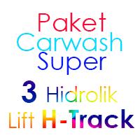 Paket Cuci Mobil Super 3 Hidrolik Lift H-Track