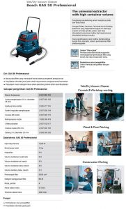 Vacuum cleaner BOSCH Gas 50 1