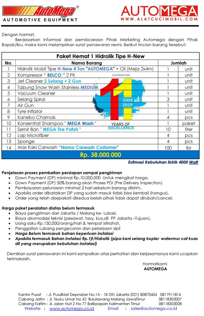 Paket-Hemat-1-Hidrolik-Lift-Cuci-Mobil-tipe-H-New