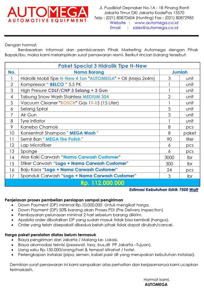 Paket-Special-3-Hidrolik-Lift-Cuci-Mobil-tipe-H-New
