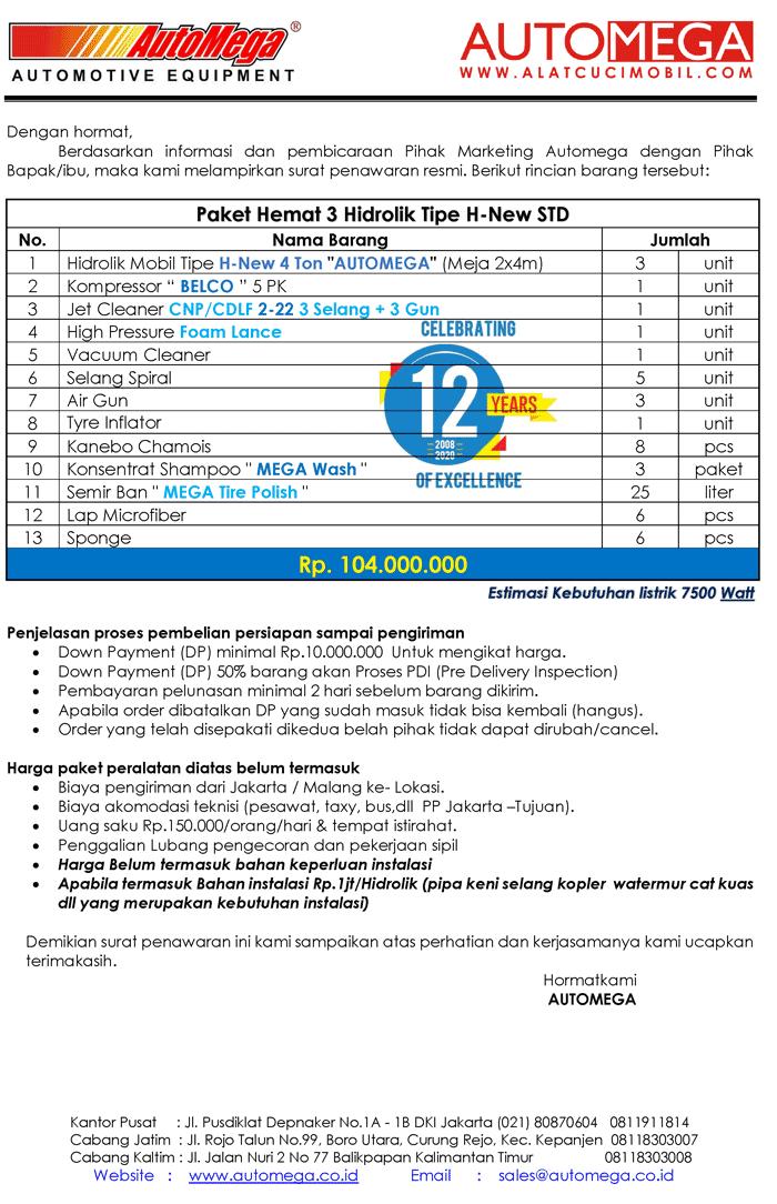 STD-Paket-Hemat-3-Hidrolik-Lift-Cuci-Mobil-tipe-H-New