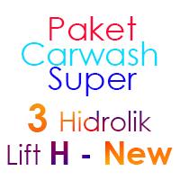 Paket Cuci Mobil Super 3 Hidrolik Lift H-New