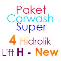 Paket Cuci Mobil Super 4 Hidrolik Lift H-New