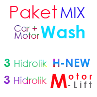 Paket MIX Cuci Mobil 3 Hidrolik H-New dan 3 Hidrolik Motor