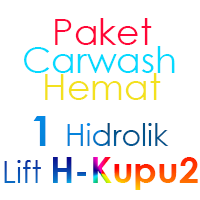 Paket Cuci Mobil Hemat 1 Hidrolik Lift tipe H-Buterfly