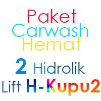 Paket Cuci Mobil Hemat 2 Hidrolik Lift tipe H-Buterfly