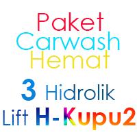 Paket Cuci Mobil Hemat 3 Hidrolik Lift tipe H-Buterfly
