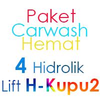Paket Cuci Mobil Hemat 4 Hidrolik Lift tipe H-Buterfly