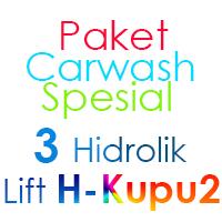 Paket Cuci Mobil Spesial 3 Hidrolik Lift tipe H-Buterfly