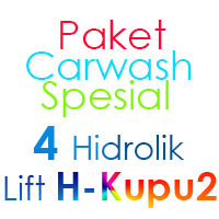 Paket Cuci Mobil Spesial 4 Hidrolik Lift tipe H-Buterfly