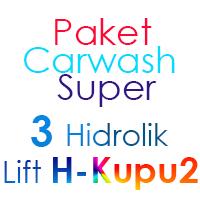 Paket Cuci Mobil Super 3 Hidrolik Lift Kupu-Kupu (Butterfly)