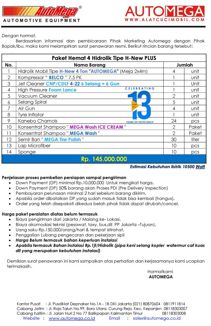 PLUS-Paket-Hemat-4-Hidrolik-Lift-Cuci-Mobil-tipe-H-New