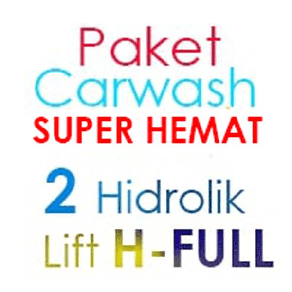 Paket Cuci Mobil SUPER Hemat 2 Hidrolik Lift Tipe H-Full