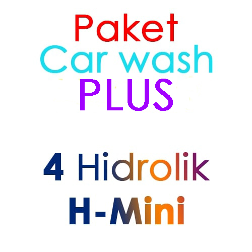 Paket Cuci Mobil Hemat PLUS 4 Hidrolik Lift tipe H-Mini